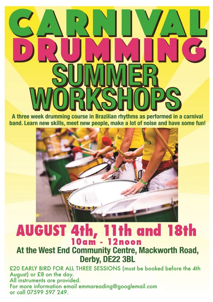 Carnival Drumming - Summer Workshops